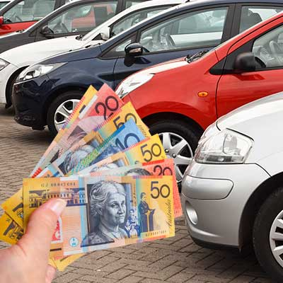 Money being offered to buy second hand cars